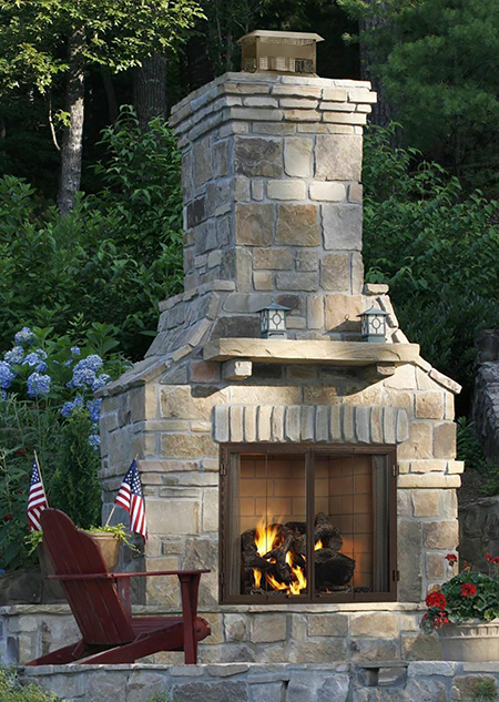 Heat & Glo Castlewood Outdoor Fireplace