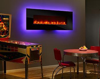 Heat & Glo Electric SimpliFire70 Wall Mount Fireplace