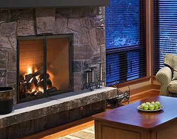 Heat & Glow Rutherford36 Wood Burn Fireplace