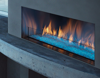 Majestic Palazzo Outdoor Fireplace