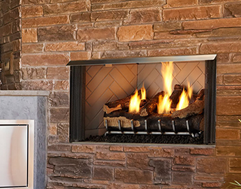 Majestic Outdoor Gas Fireplace Villa42 CF