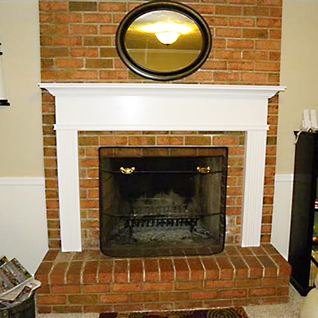 Mmonticell White Fireplace Mantel
