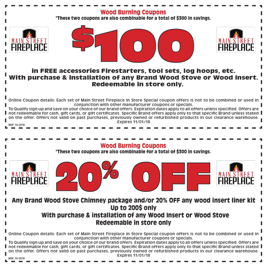 Main Street Fireplace Wood Coupon