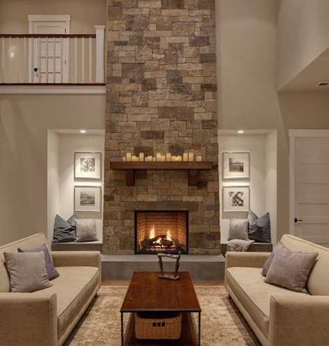 Stone veneer fireplaces long island ny fireplace inserts - Stone and wood fireplace ...