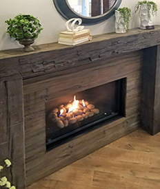 Magra Hearth Mantel Post and Beam