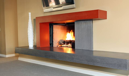 Concrete Fireplace Mantel